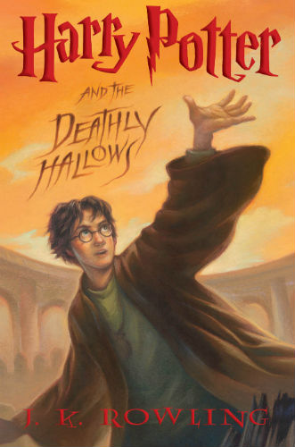 """""""Harry Potter and the Deathly Hallows"""" Book Cover – US"""
