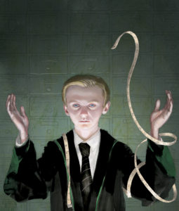 Jim Kay Chamber of Secrets - Draco at Madam Malkins