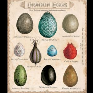 Jim Kay Chamber of Secrets - Dragon Eggs