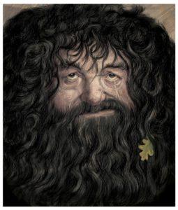 Jim Kay Chamber of Secrets - Hagrid