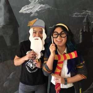 Dumbledore and Gryffindor photo props
