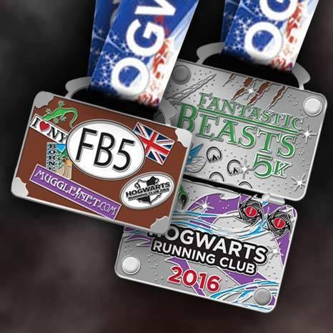 hogwarts running club medal 5k