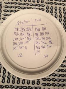 Tabletop Quidditch scores