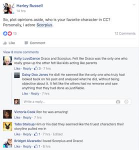 Cursed Child Reactions Screen Shot 1b
