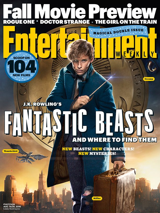 Fantastic Beasts Entertainment Weekly cover