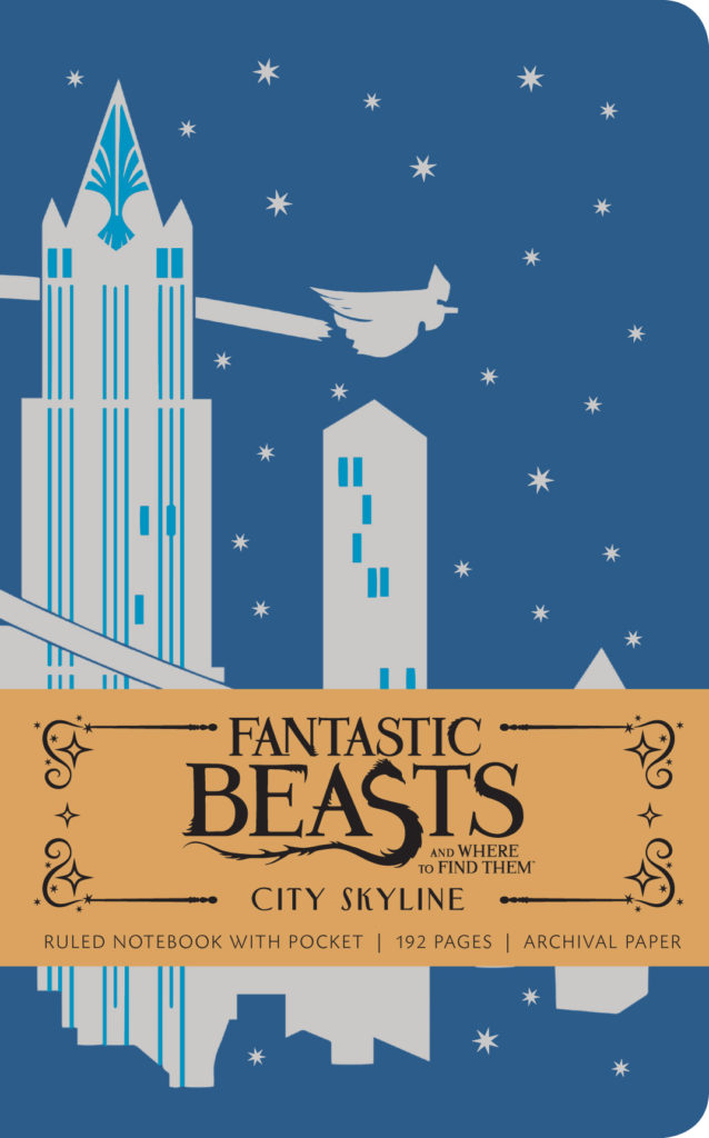 Fantastic Beasts and Where to Find Them: City Skyline Hardcover Ruled Notebook. $12.99.