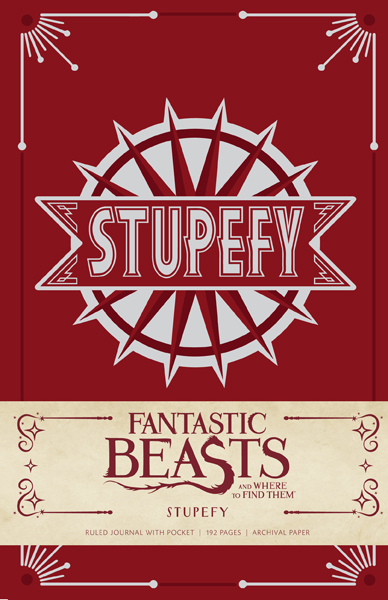 Fantastic Beasts and Where to Find Them: Stupefy Hardcover Ruled Journal. $19.95.