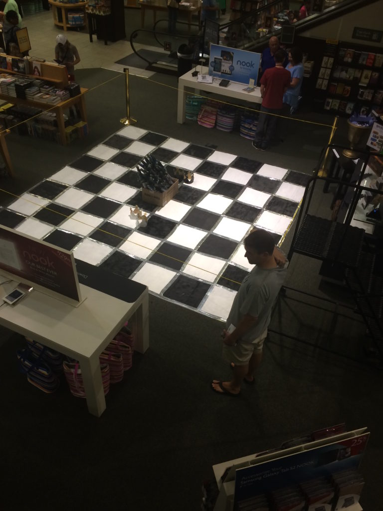 A life sized Wizard's Chess at Carle Place, NY.