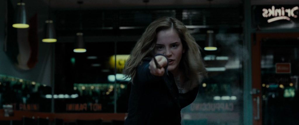Hermione Fighting in the Deathly Hallows Part 1