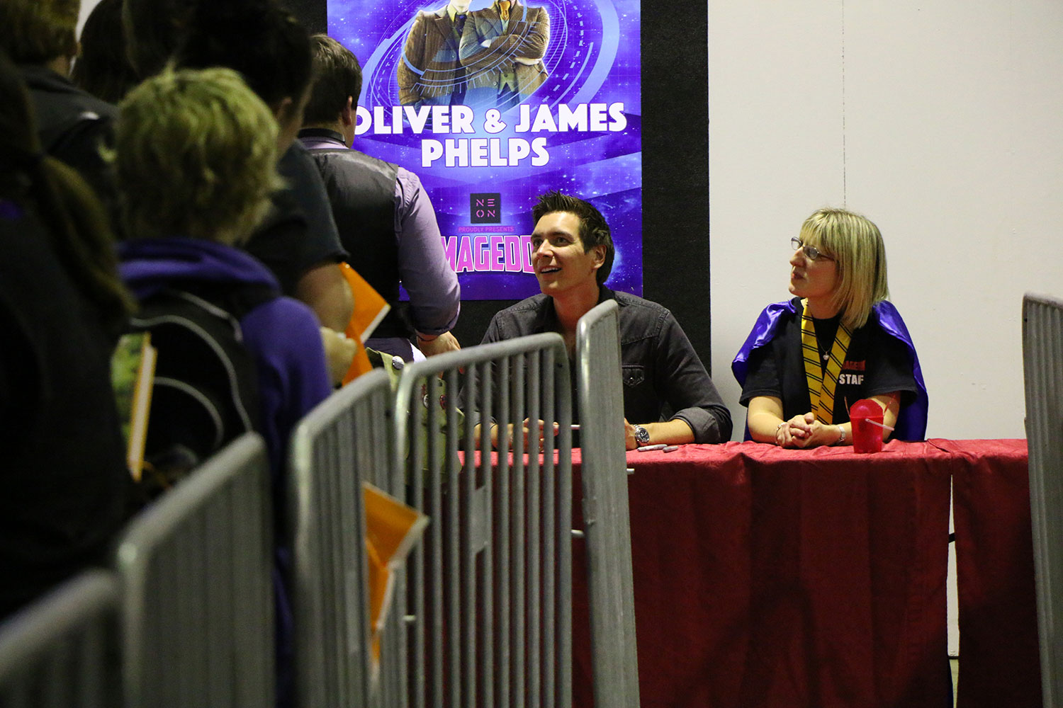 Armageddon Expo 2016 – Auckland – Oct 22 – James and Oliver Phelps Autograph Signing – 3 (Photo credit: Tracey Wong)