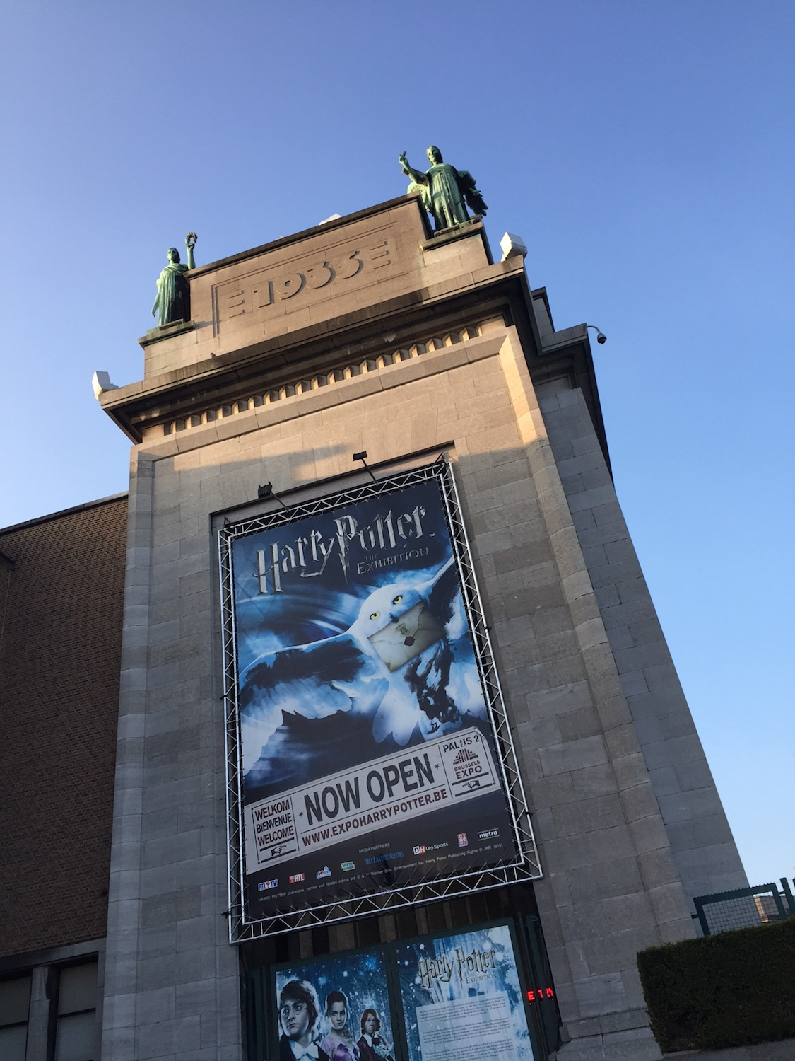 """Harry Potter: The Exhibition"" banner"