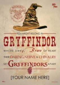 """""""Harry Potter"""" Sorting Hat Wall Art from Custom Photo Prints"""