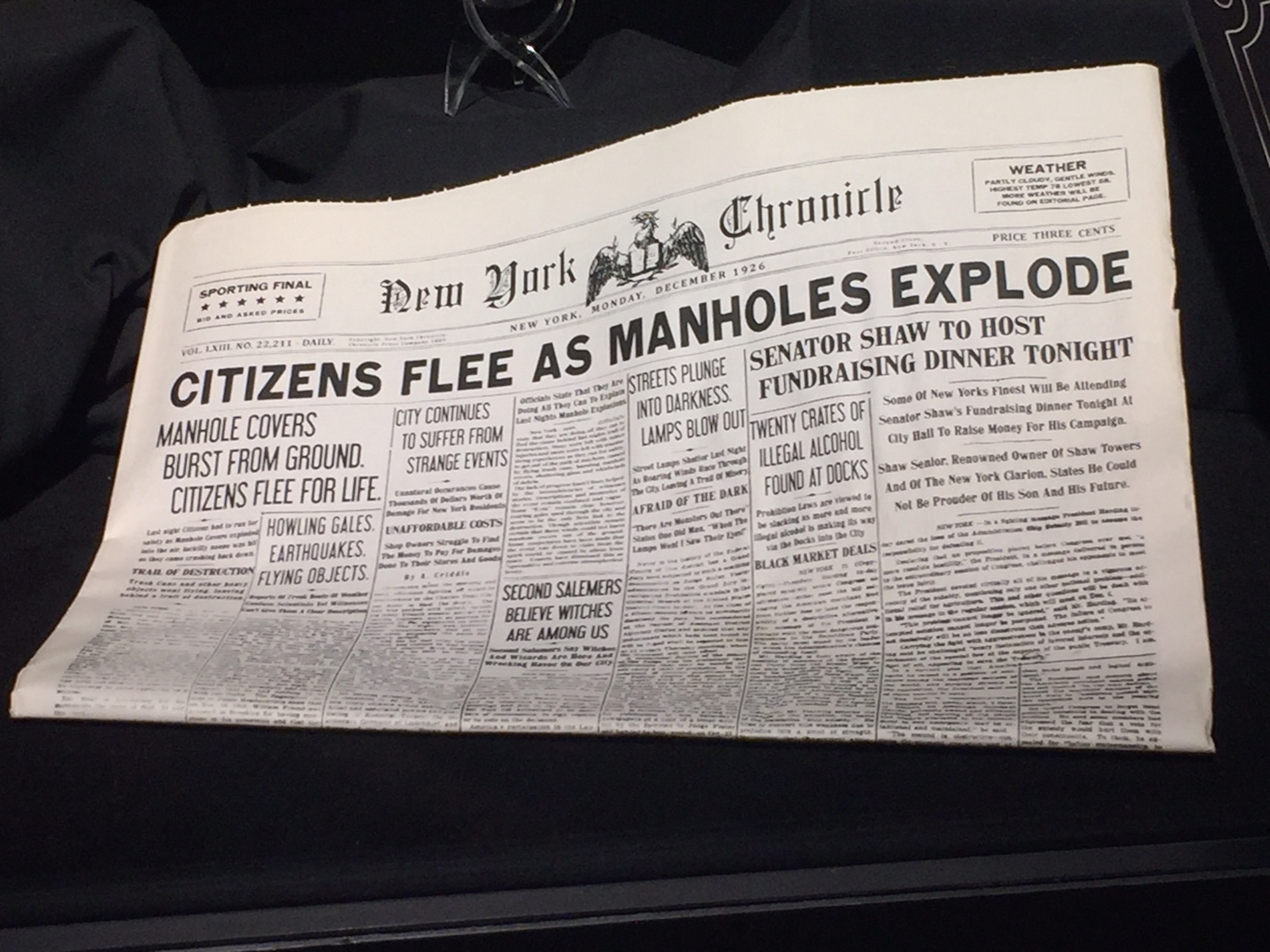 """The New York Chronicle"" newspaper"