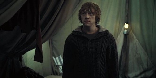 Ron after returning in Deathly Hallows part 1