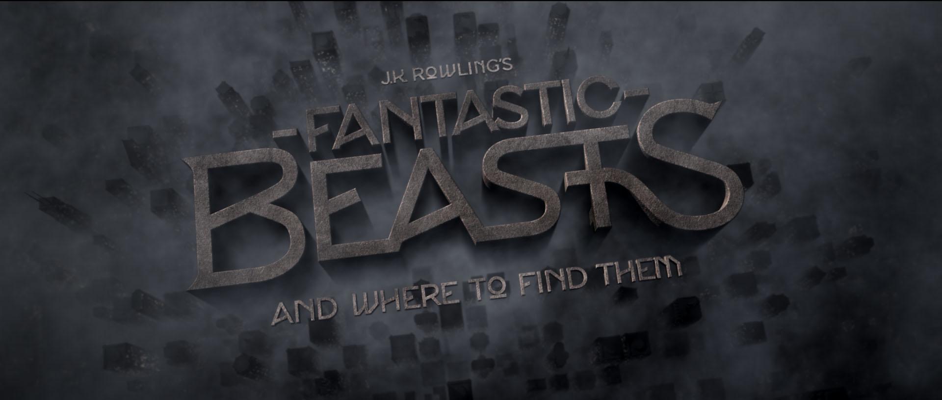 """""""Fantastic Beasts"""" logo concept 10"""