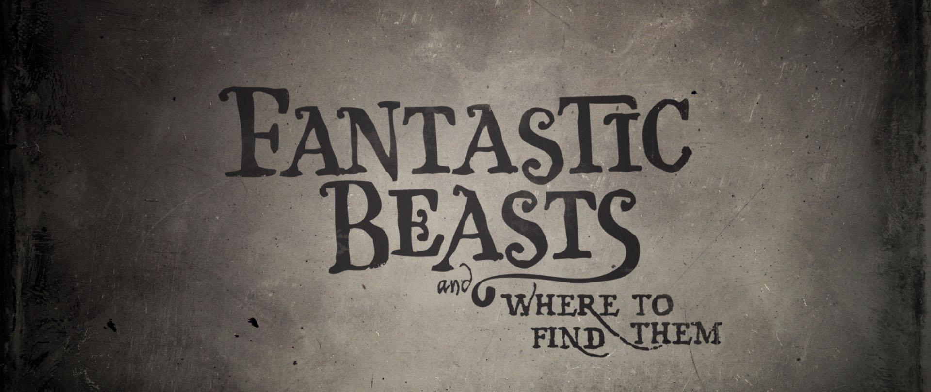 """""""Fantastic Beasts"""" logo concept 12"""