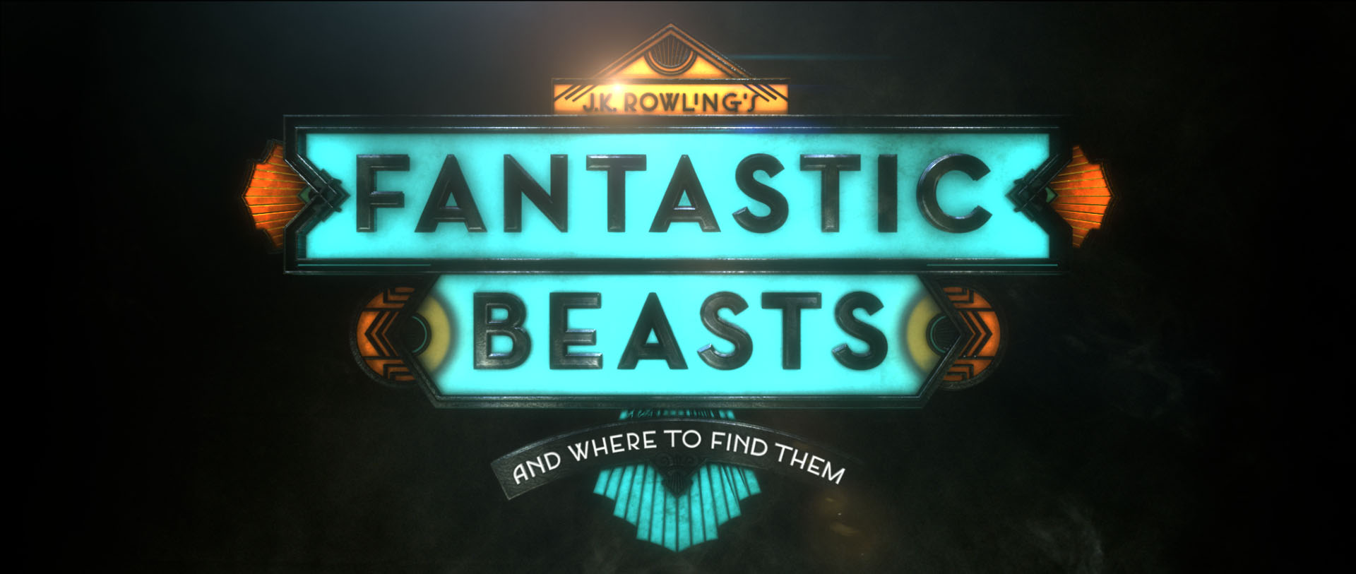 """""""Fantastic Beasts"""" logo concept 9"""