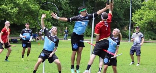 Major League Quidditch players from Austin and Kansas City are shown in gameplay in an undated photo.