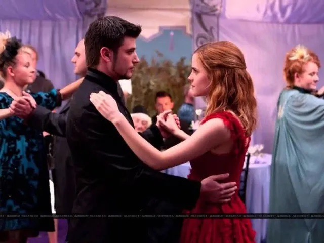 Krum and Hermione dancing