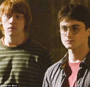 Harry and Ron standing