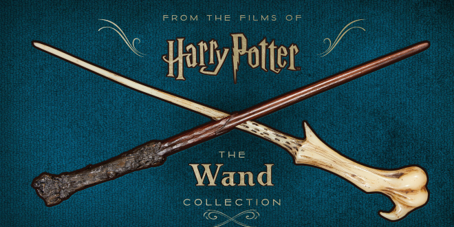 "The cover art for the upcoming paperback release of ""Harry Potter: The Wand Collection""."