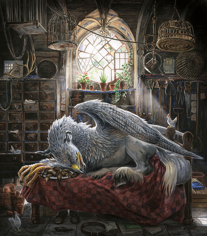 Buckbeak the hippogriff illustration