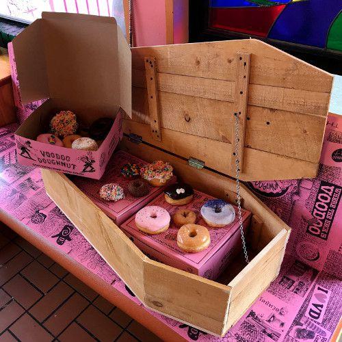 Coffin of doughnuts