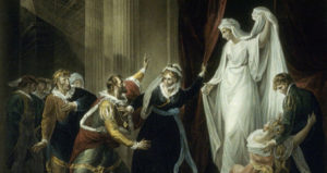 Painting of Queen Hermione in William Shakespeare's The Winter's Tale