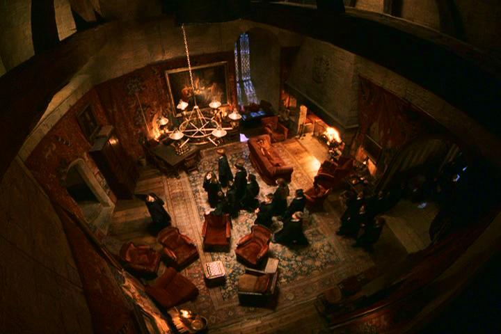 The Gryffindor common room as seen in the films