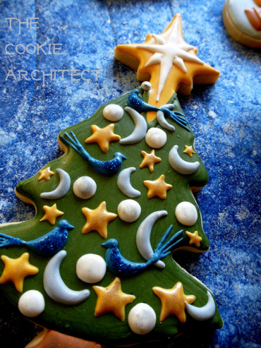 Hogwarts Christmas tree cookie