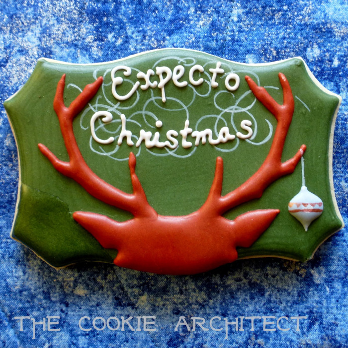"""Expecto Christmas"" cookie"