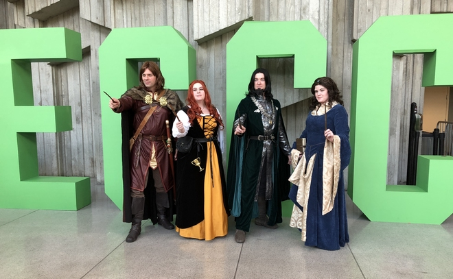 Hogwarts House founders ECCC cosplay