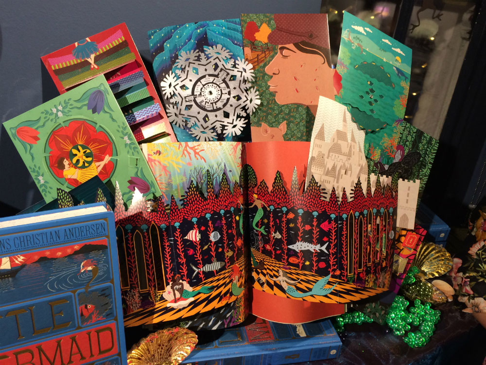 Some of the interactive feature of MinaLima's new illustrated classic were on display at the launch.