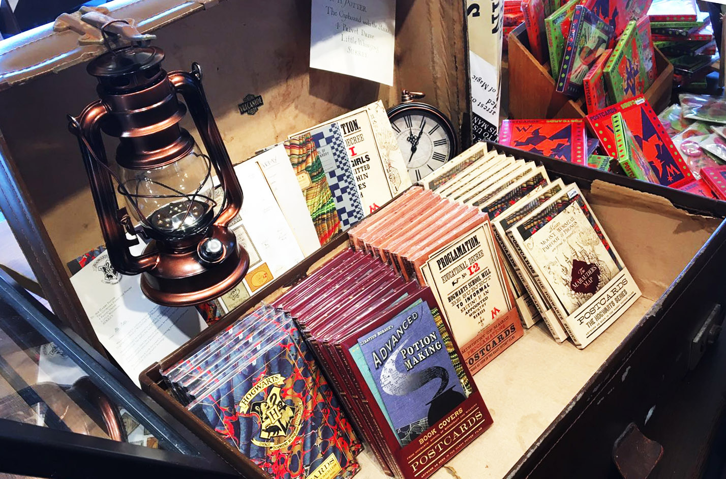 """Visitors to the pop-up shops will be able to purchase replica """"Potter"""" notebooks."""