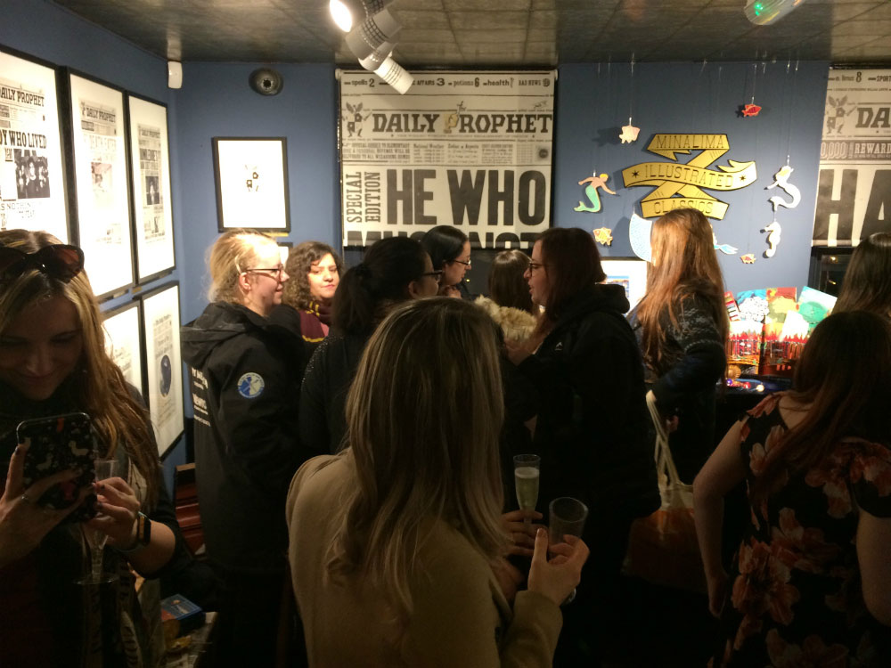 It was a packed house for the launch of MinaLima's new illustrated classic.