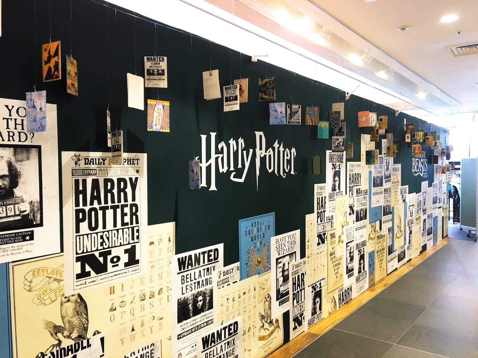 """The pop-up shop displays some of MinaLima's famous """"Potter"""" movie props."""