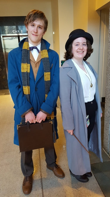 Newt and Tina cosplay by Carl and Meg