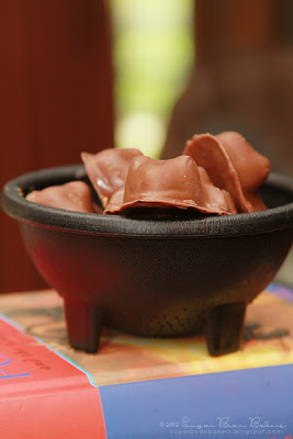 Cauldron of peanut butter chocolate frogs