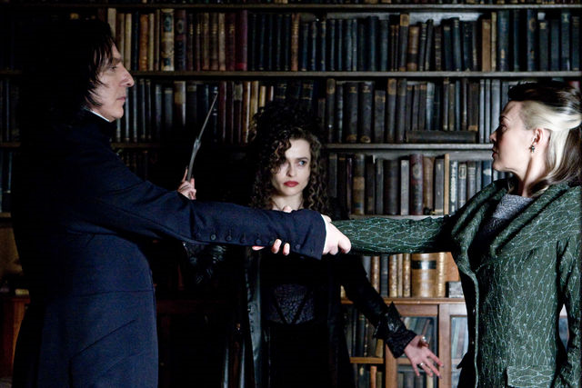 ISTJs Severus Snape and Narcissa Malfoy prove their devotion by performing the Unbreakable Vow.