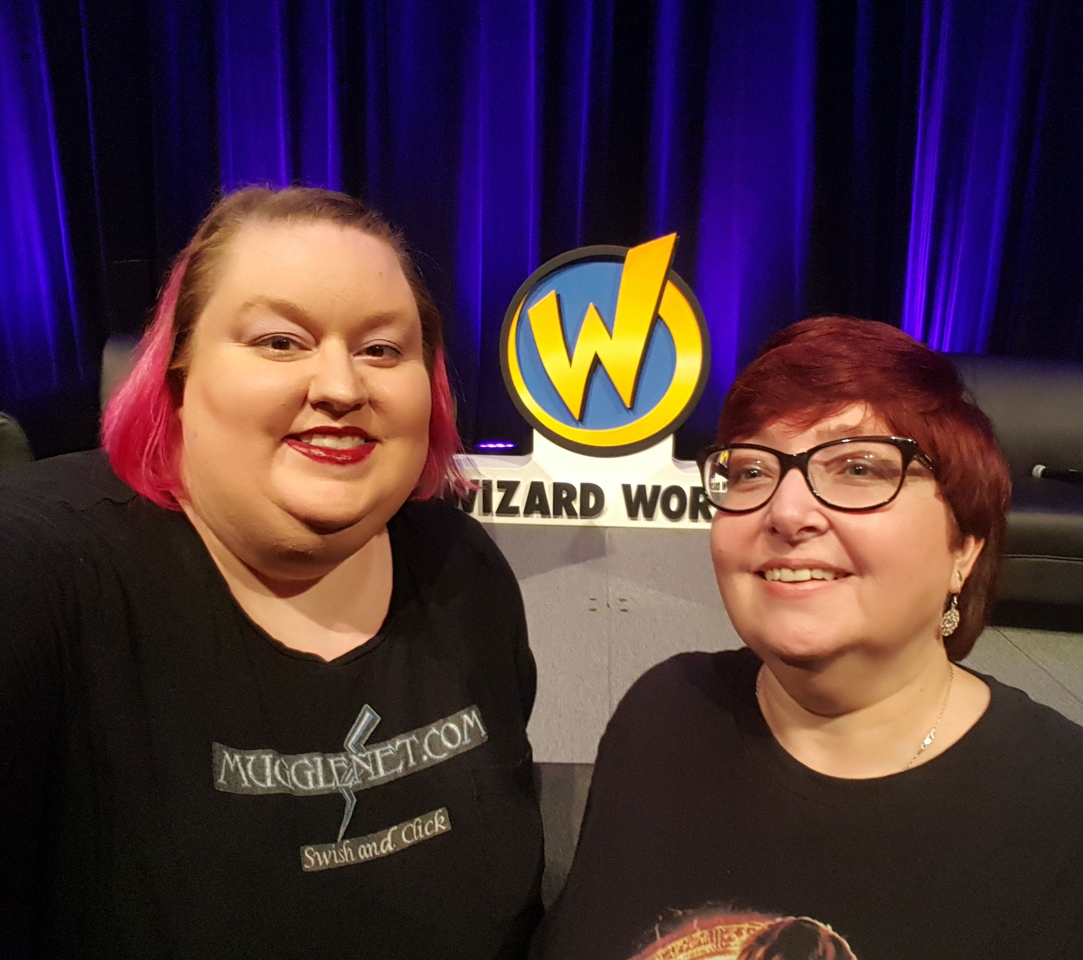 Aimee and Michele at Wizard World Portland 2018.