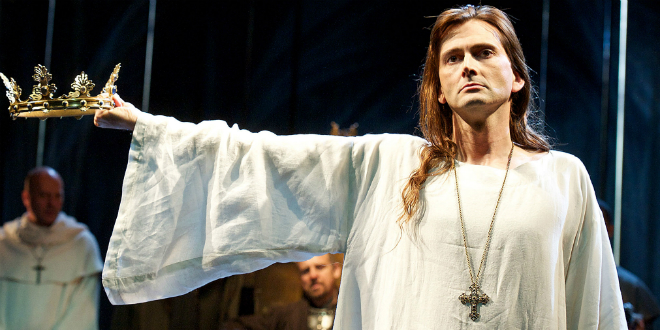 """This tunic from David Tennant's performance in """"Richard II"""" is one of the items up for auction."""