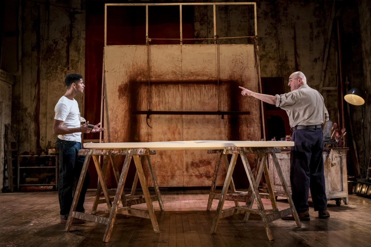 """Enoch and Molina portray an often confrontational working relationship in """"Red""""."""