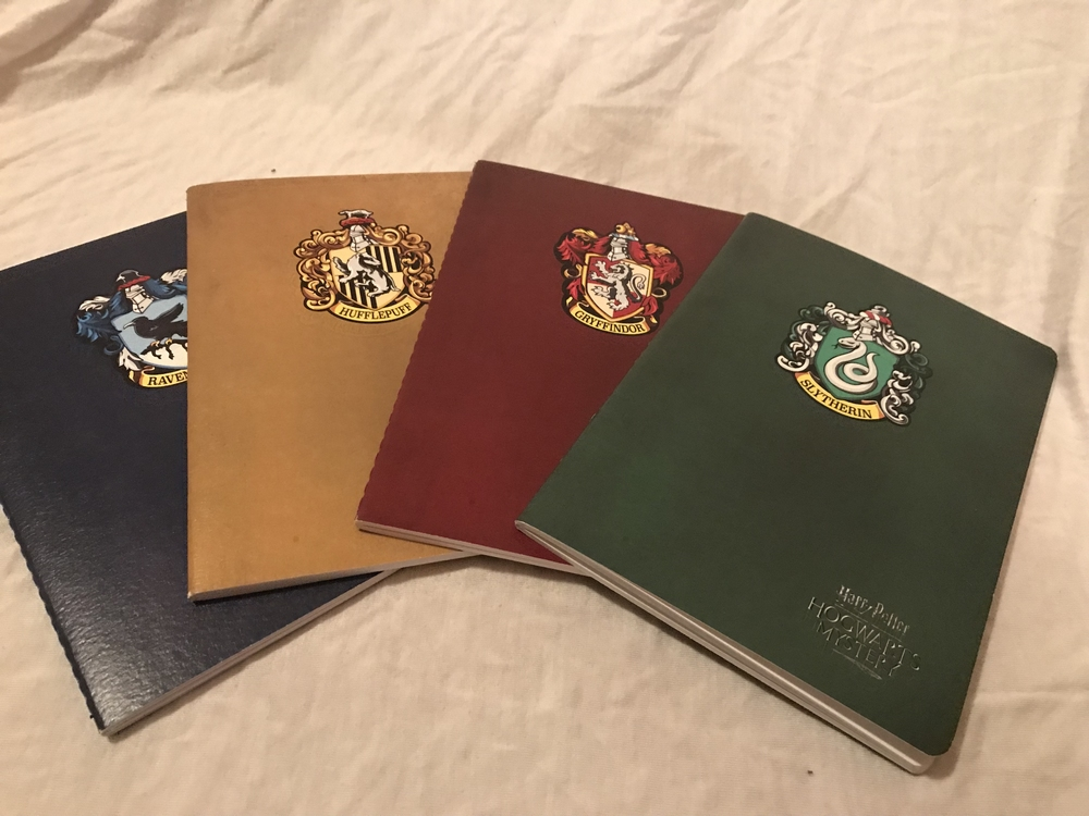 "House Journals from the ""Hogwarts Mystery"" mobile game"