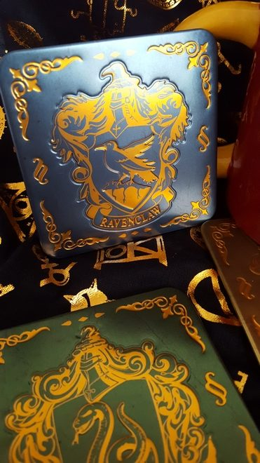 Ravenclaw coaster in blue and gold