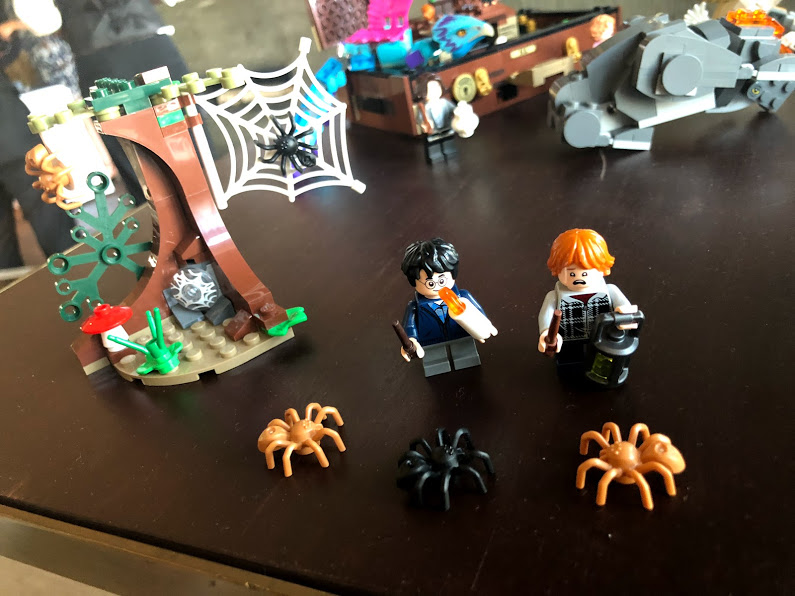 "A new ""Harry Potter"" LEGO set, including Harry and Ron deep in the Forbidden Forest encountering spiders in Aragog's lair"