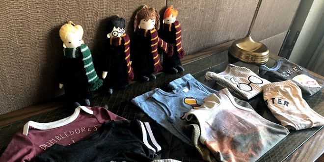 """Harry Potter"" dolls and onesies"