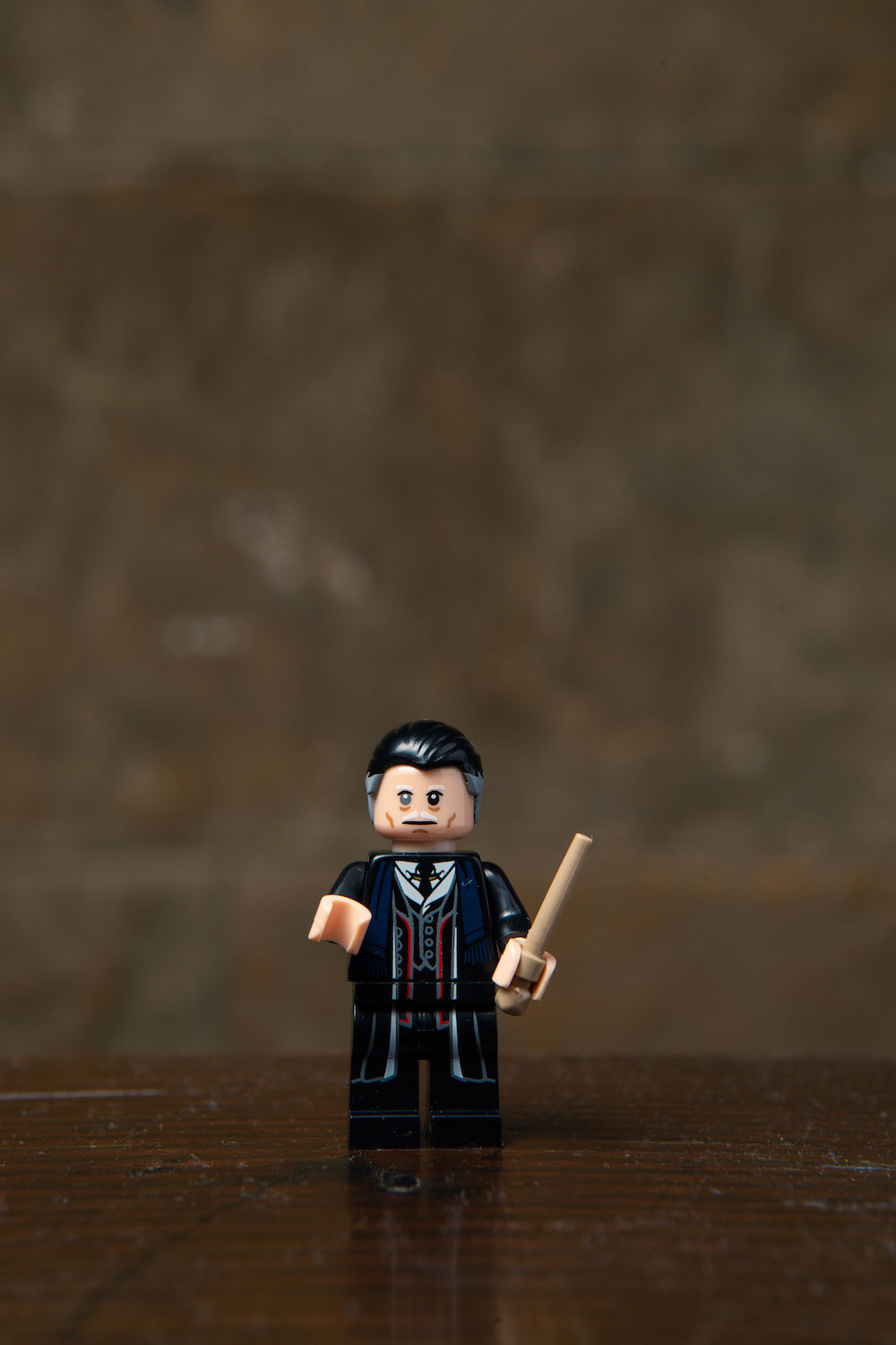 "A Graves minifigure is included as a part of the ""Fantastic Beasts"" collectibles in the LEGO minifigures wizarding world series."