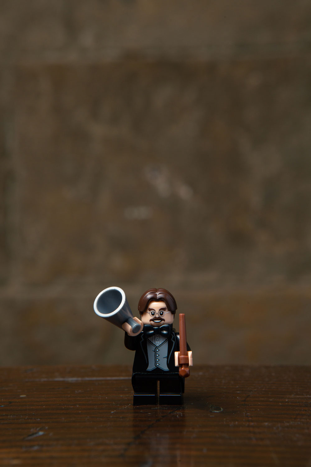 Professor Flitwick is featured with his bullhorn? Wizarding choir practice must be getting a little too loud…