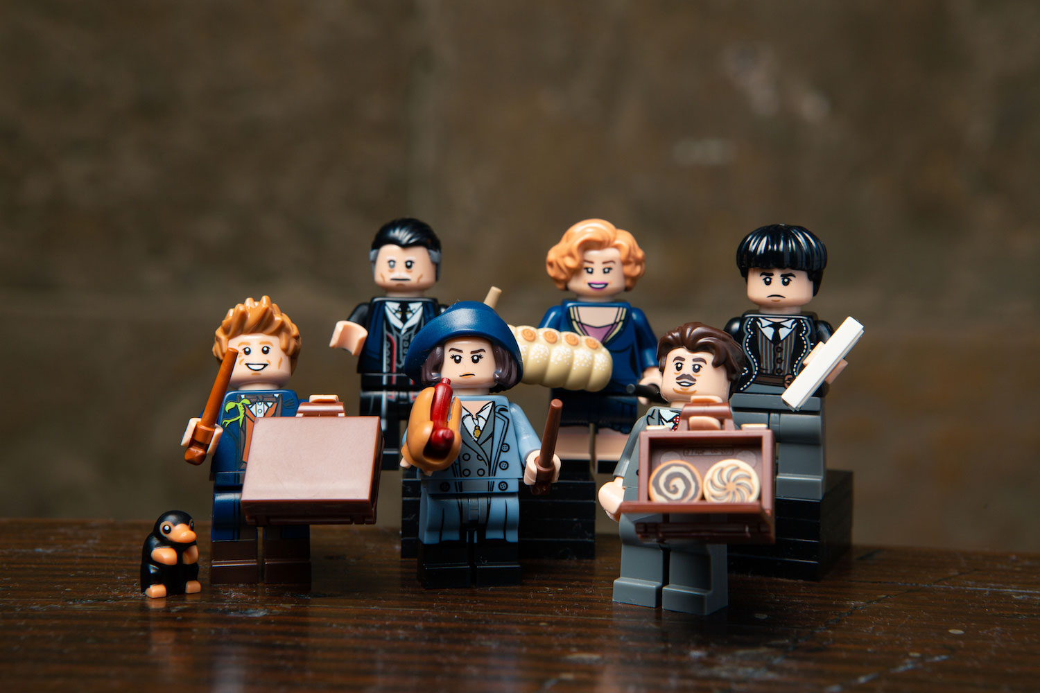 "Tina and her hot dog, Queenie and her strudel, Jacob and his pastries… the whole ""Fantastic Beasts"" gang is included in the new wizarding world minifigures series from LEGO."
