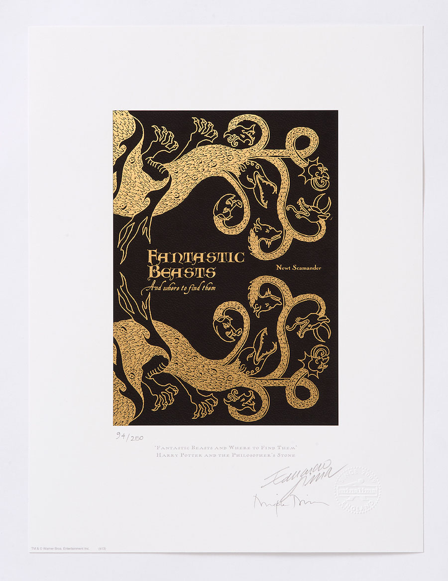 """As part of the celebrations, the secrets behind the gold foiling on this """"Fantastic Beasts and Where to Find Them"""" premium print will be revealed."""